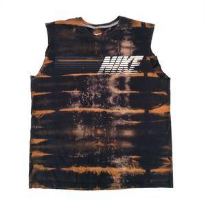 Nike Custom Tie Dye Bleached Reworked T-Shirt XL